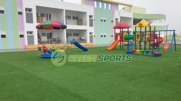 Thi công sân chơi trẻ em trường mầm non Ninh Hiệp