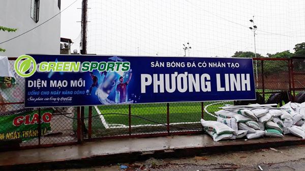 Thi công sân bóng Phương Linh