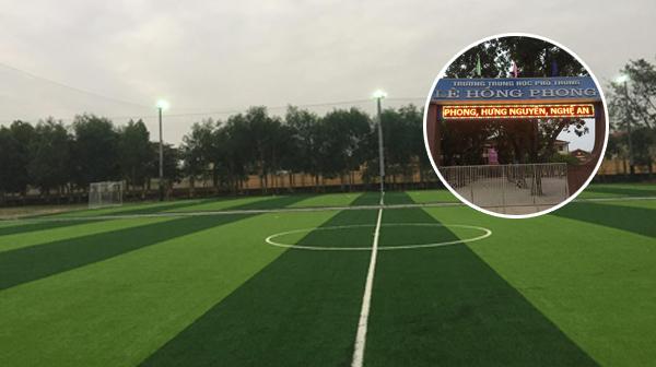 Dự án sân bóng trường PTTH Lê Hồng Phong - Nghệ An