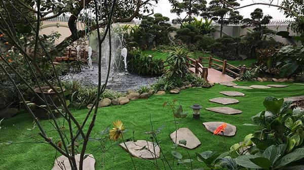Thi công sân vườn nhà anh Bắc - Phổ Yên - Thái Nguyên