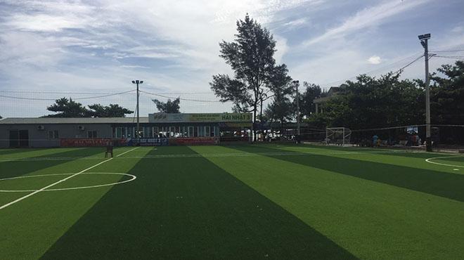 Dự án thay cỏ sân bóng Hải Nhật 3 - Nghệ An