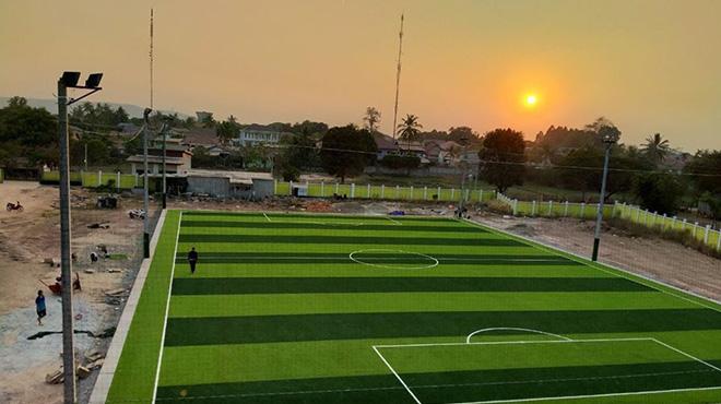 Thi công sân bóng đá tại Tỉnh Savanakhet,Lào